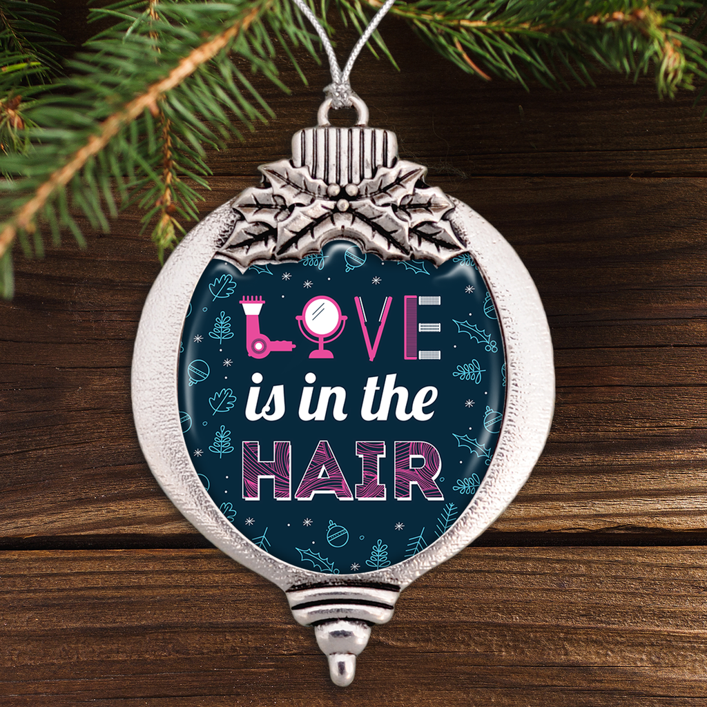Love Is In The Hair Bulb Ornament