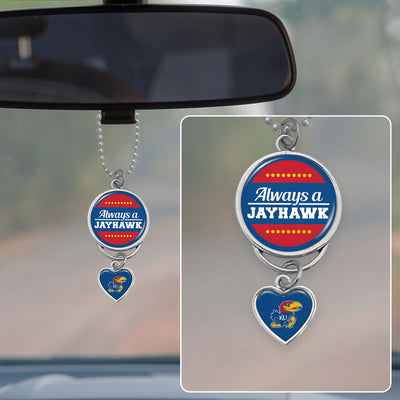 Always A Jayhawk - University Of Kansas Rearview Mirror Charm