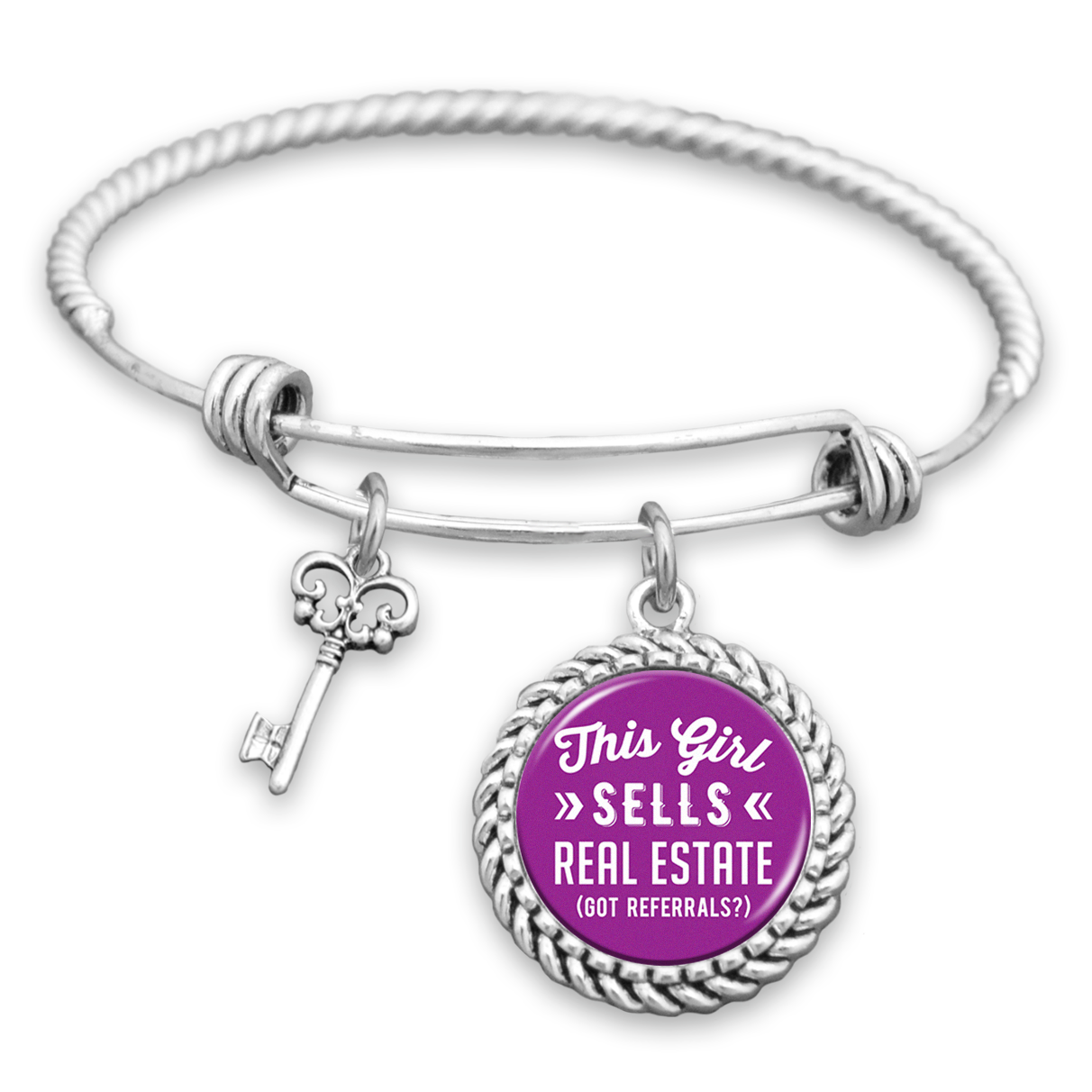 This Girl Sells Real Estate (Got Referrals?) Charm Bracelet