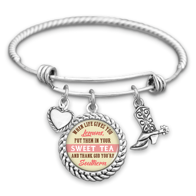 When Life Gives You Lemons, Put Them In Your Sweet Tea Charm Bracelet