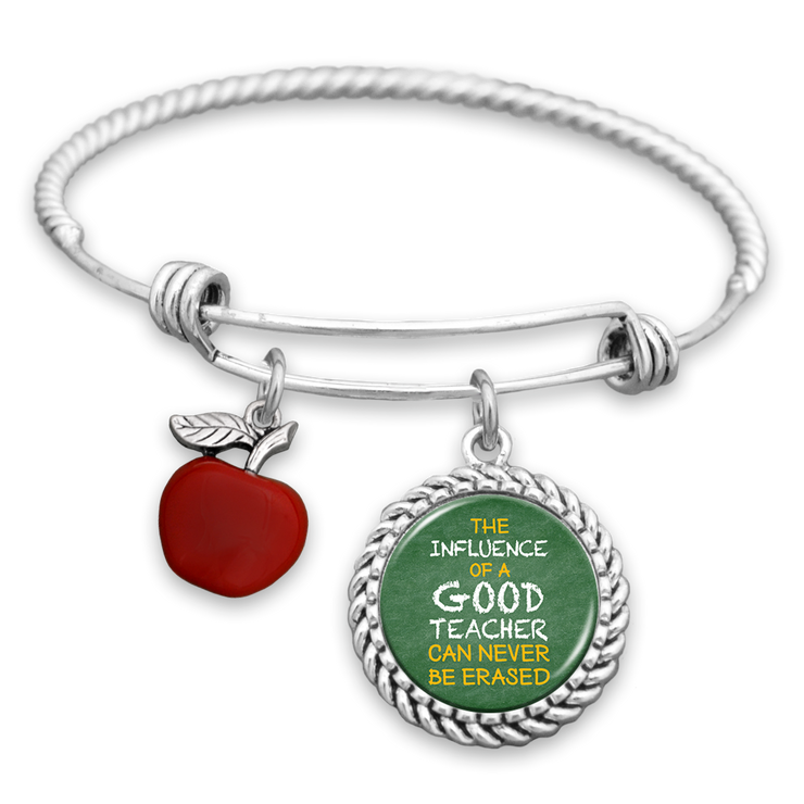 A Good Teacher Can Never Be Erased Charm Bracelet