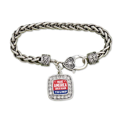 "Trump ""Make America Great Again"" Crystal Bracelet"
