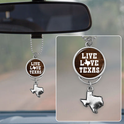 Live Love Texas Rearview Mirror Charm