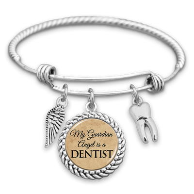 My Guardian Angel Is A Dentist Charm Bracelet