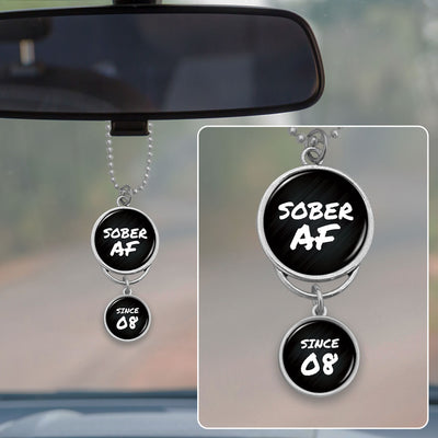 Customizable Sober AF Rearview Mirror Charm