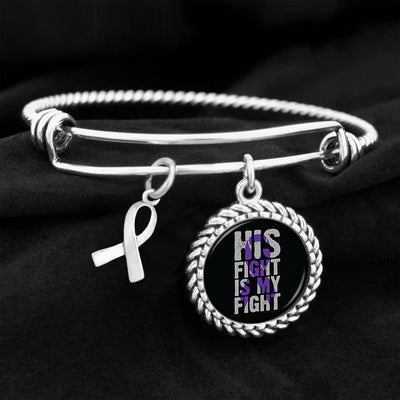 His Fight Is My Fight Alzheimer's Awareness Charm Bracelet