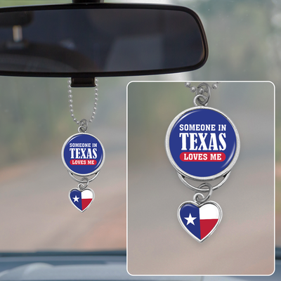 Someone In Texas Loves Me Rearview Mirror Charm
