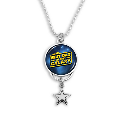 Best Dad In The Galaxy Rearview Mirror Charm