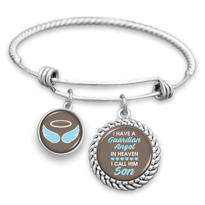 Angel In Heaven Son (Blue) Charm Bracelet