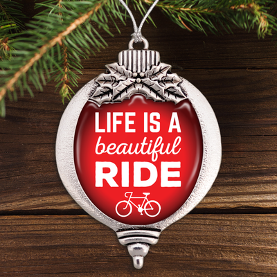 Life Is A Beautiful Ride Bulb Ornament