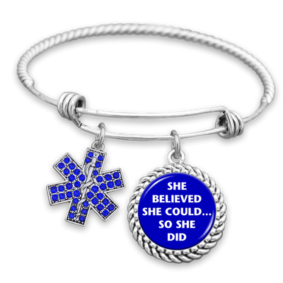 She Believed She Could So She Did Star Of Life Charm Bracelet