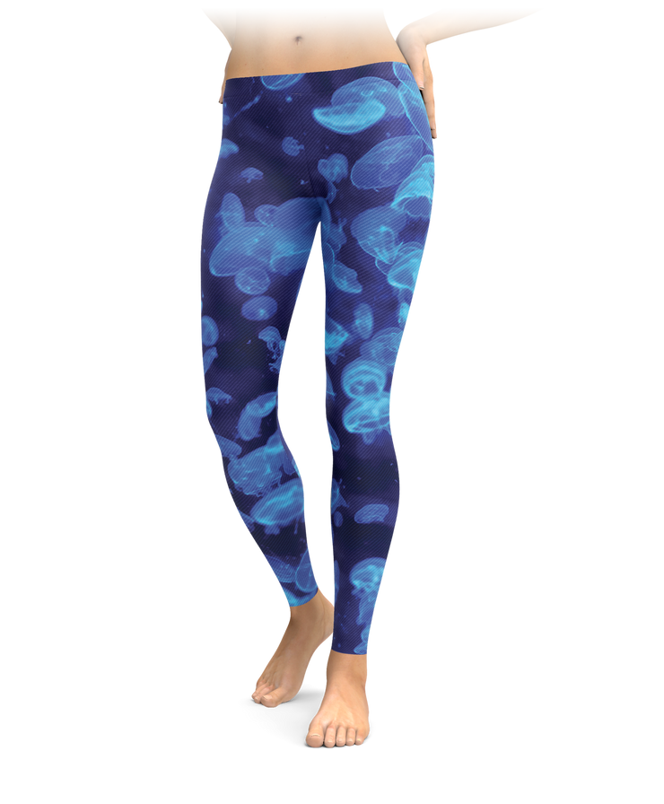 Blue Jellyfish Leggings