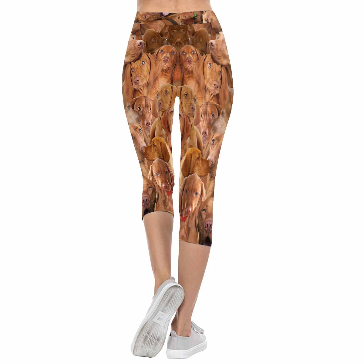 Vizslas on Vizslas on Vizslas 3/4 Capri Leggings