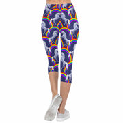 Rainbow Unicorns 3/4 Capri Leggings