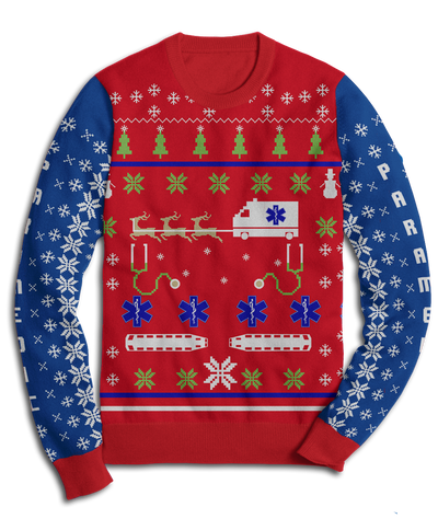 Paramedic Holiday Fleece Sweatshirt