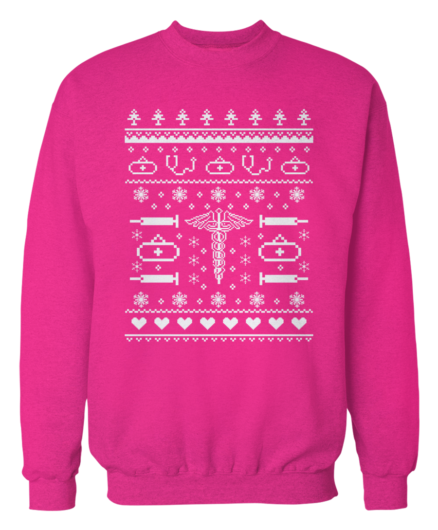 Nurse - Ugly Christmas Sweater - Cute Holiday