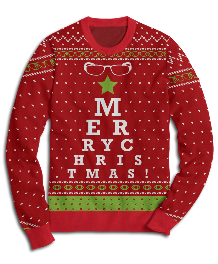 Ugly Optometrist Holiday Fleece Sweatshirt
