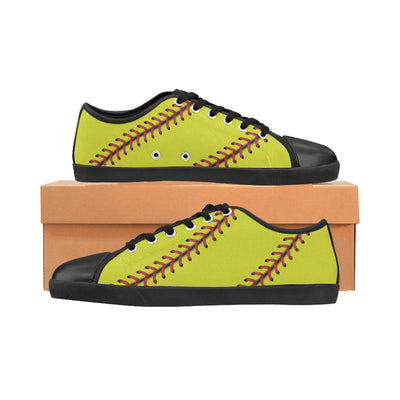 Softball Stitches Women's Canvas Shoes