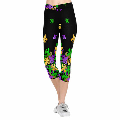 Flying Fleur-de-lis 3/4 Capri Leggings