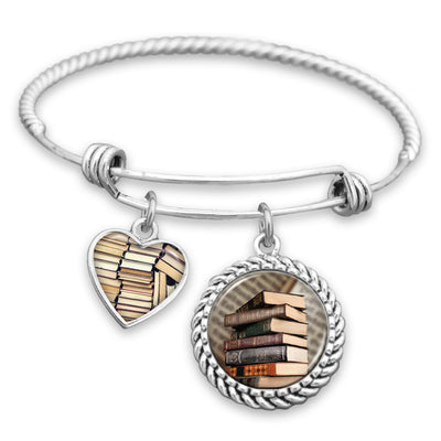 Old Books Charm Bracelet