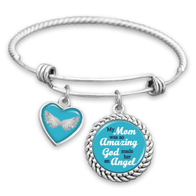 My Mom Was So Amazing God Made Her An Angel Charm Bracelet