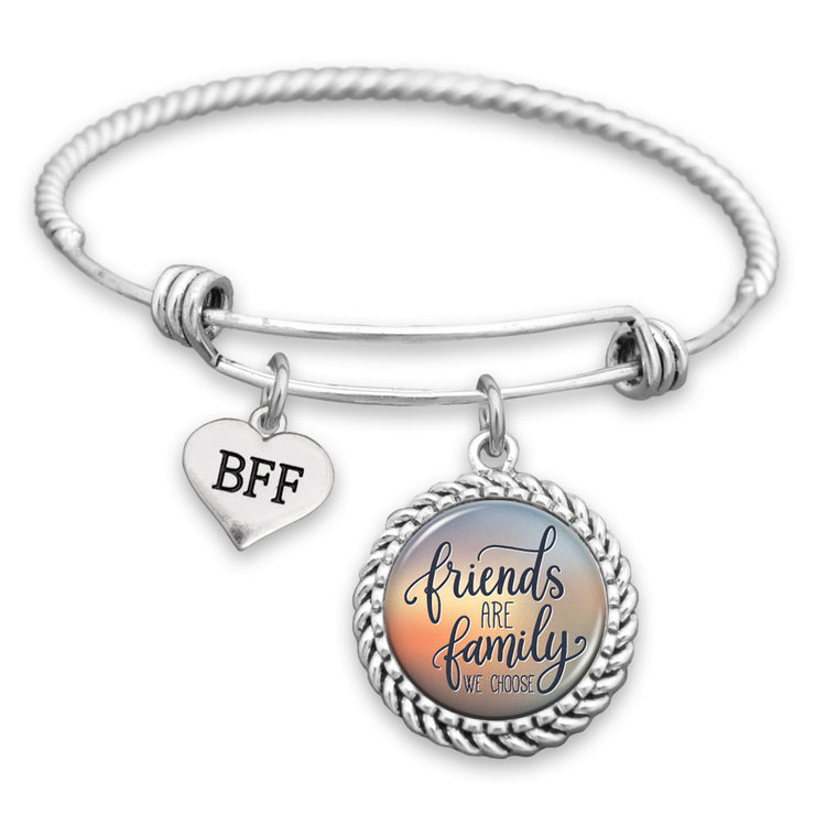 Friends Are The Family We Choose BFF Charm Bracelet