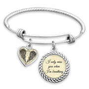 I Only Miss You When I'm Breathing Charm Bracelet
