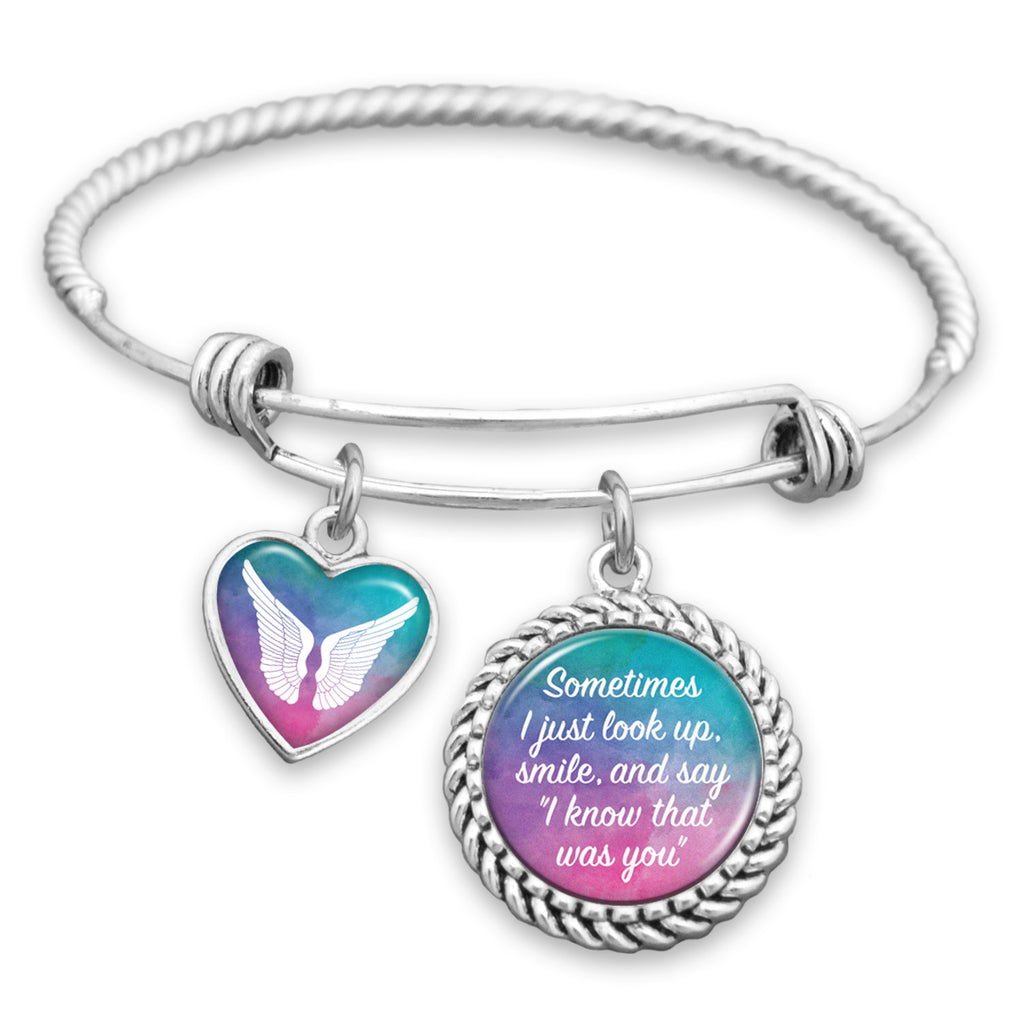I Know That Was You Watercolor Charm Bracelet