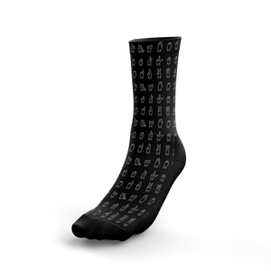 ASL Alphabet Sign Crew Socks