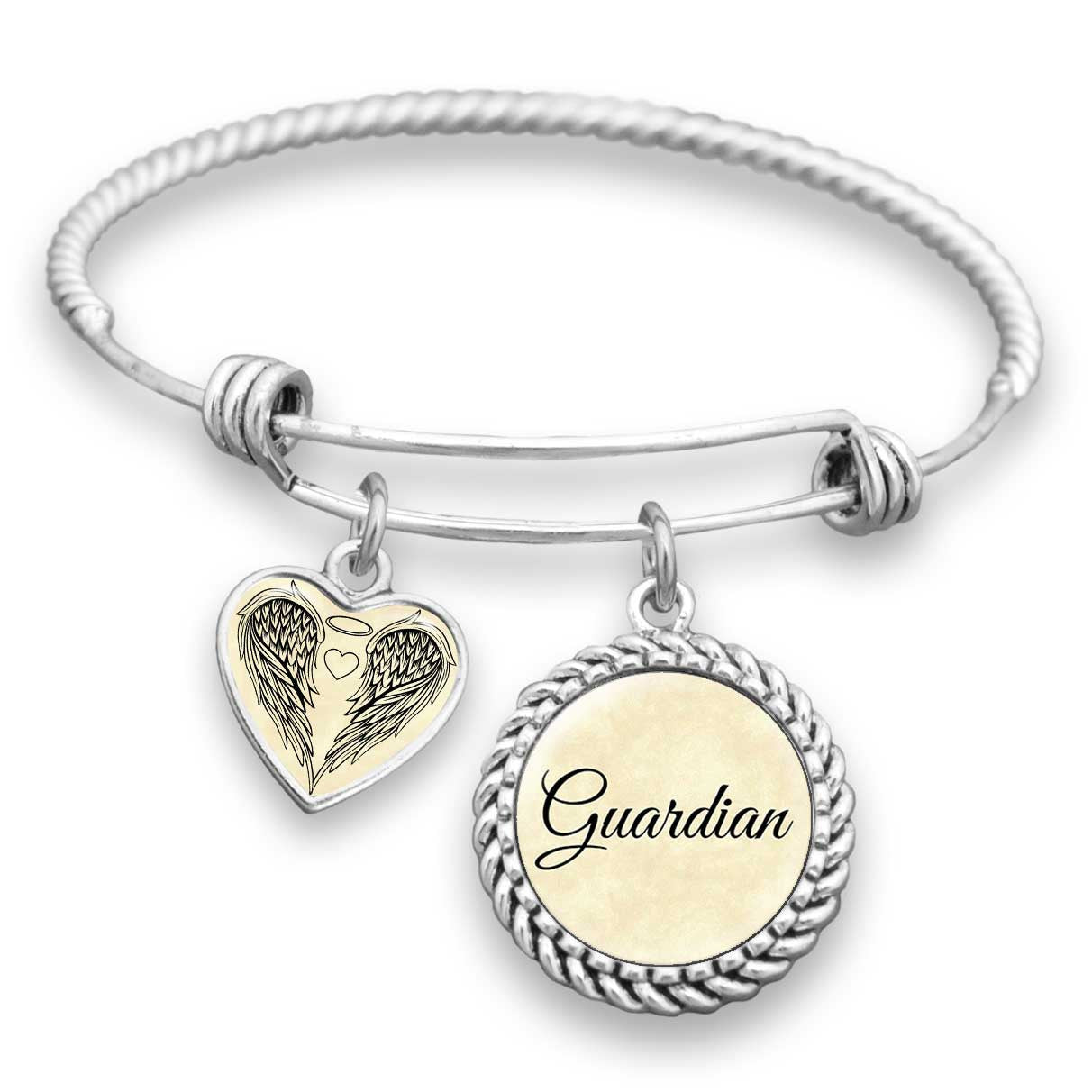 Guardian Angel Divine Faith Charm Bracelet
