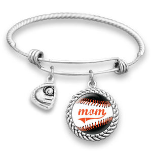 Baltimore Baseball Mom Charm Bracelet