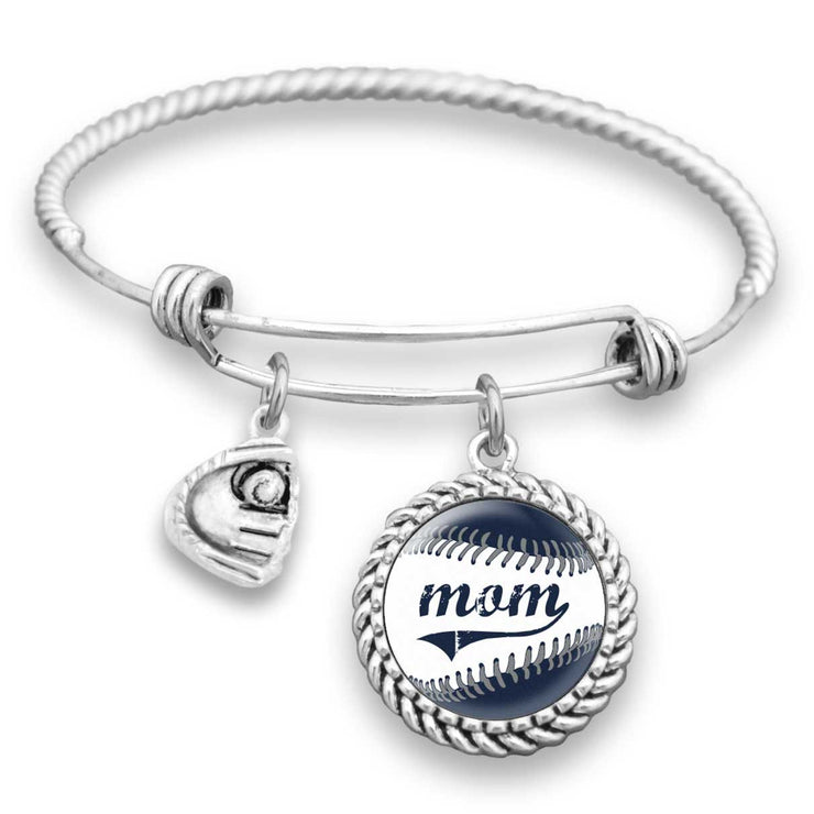 New York Baseball Mom Charm Bracelet