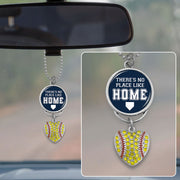 There's No Place Like Home Softball Rearview Mirror Charm