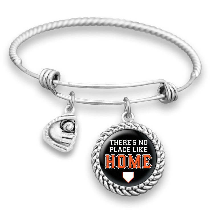 San Francisco There's No Place Like Home Baseball Charm Bracelet