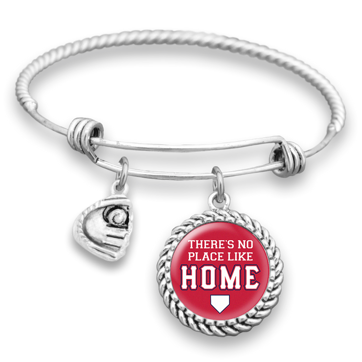 St. Louis There's No Place Like Home Baseball Charm Bracelet