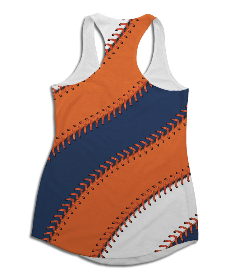Houston Baseball Stitches Racerback Tank Top