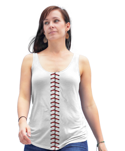 Baseball Side Stitch Racerback Tank Top