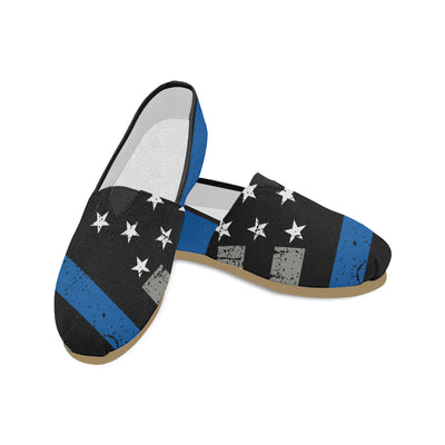 Thin Blue Line Canvas Shoes