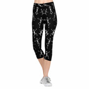 Skeleton Yoga 3/4 Capri Leggings