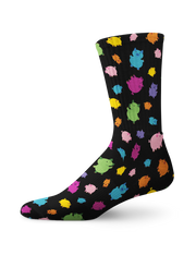 Colorful Pig Crew Socks
