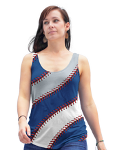 Los Angeles Baseball Stitches Racerback Tank Top