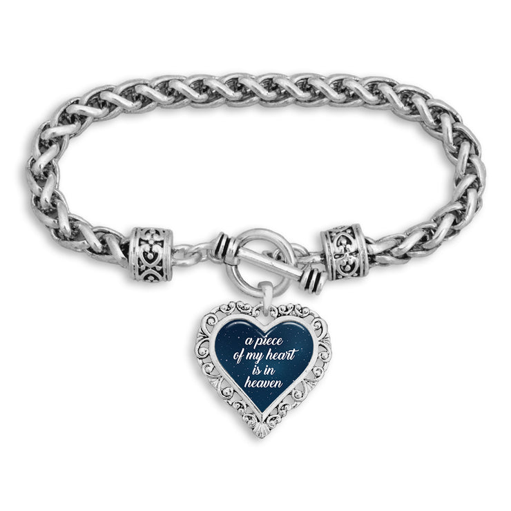 """Piece Of My Heart"" Night Sky Heart Clasp Bracelet"