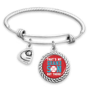 That's My Grandson Out There Baseball Charm Bracelet