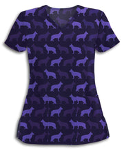 Purple German Shepherds Scrub Top