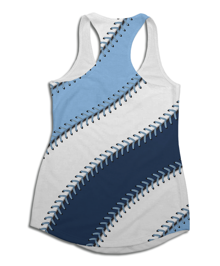 Tampa Bay Baseball Stitches Racerback Tank Top