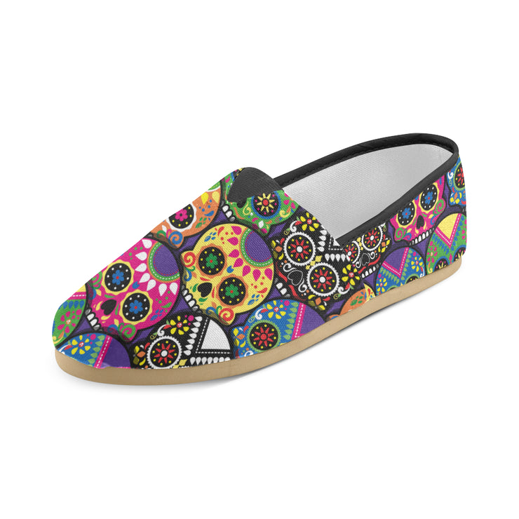 Candy Colored Sugar Skulls Women's Canvas Shoes