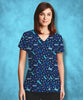 California Home Stars Scrub Top
