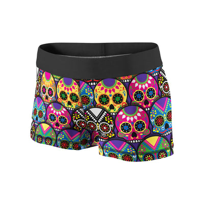 Candy Colored Sugar Skulls Fitness Shorts