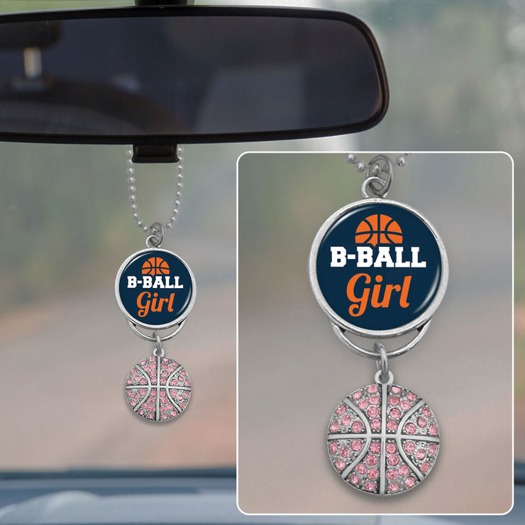 B-Ball Girl Rearview Mirror Charm