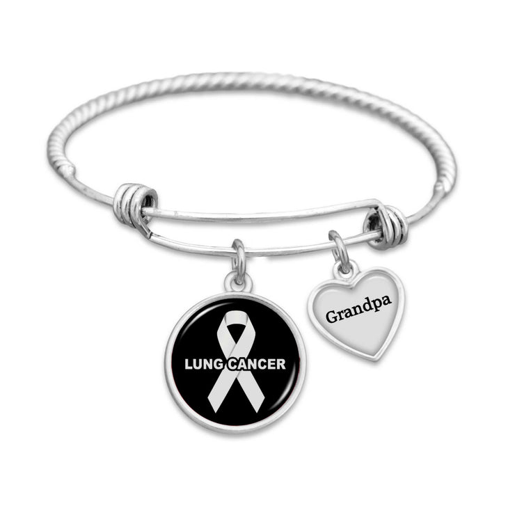 Lung Cancer Awareness Bracelet